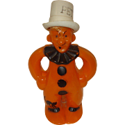 "Vintage Halloween Clown ""Pete"" Plastic Candy Container"