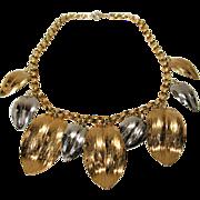 Bold Vintage Napier Leaf Necklace