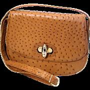 1970s Genuine Ostrich Handbag Jordan Marsh made in Italy