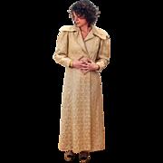 1930s Gold Matelasse Brocade Opera Coat S