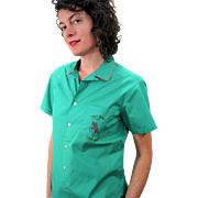 1970s NOS Ralph Lauren Westernwear Green Shirt