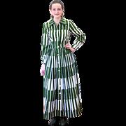 1970s Marimekko Design Research Green White Dress S