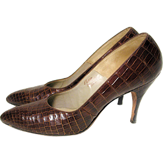 1950s I Miller Alligator Pumps size 8.5 AAA with Box