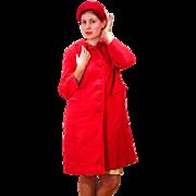 1960s Pink Harris Tweed Coat M