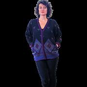 1980s Ungaro Ter Designer Cardigan Sweater