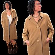 1960s Pure Cashmere Camel Coat M