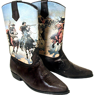 1980s Seychelles Western Painted Cowgirl Boots size 10
