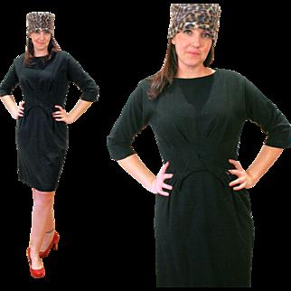 1950s Classic Winter Little Black Dress by Pomette, M