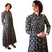 1870s Victorian Mother Hubbard Maternity Dress