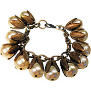 1940s Unsigned Miriam Haskell Faux Pearl Bracelet