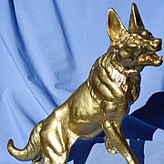 "16"" German Shepherd Alsatian Malinois metal dog Carvin"