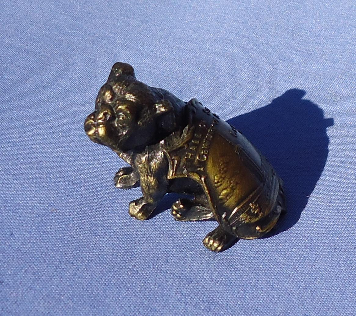 1933 bronze English Bulldog Century of Progress Chicago world's fair souvenir