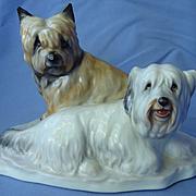 """Skye Silky terrier Briard dog Herend 8"""""""