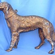 cast iron HUBLEY doorstop wolfhound/BORZOI