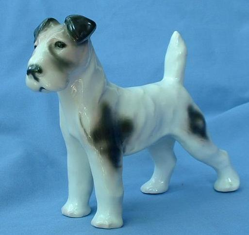 1940 Wire Fox terrier Schnauzer dog Gotha Pfeffer GERMANY  8""