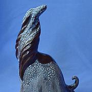 """1979 Afghan Hound signed sculpture  Marcia Van Woert 8"""""""