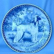 Denmark Afghan hound plate