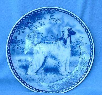 "Afghan hound original Denmark dog plate 7"""