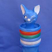 1930s art deco blue cat smoke set  Goebel  Germany
