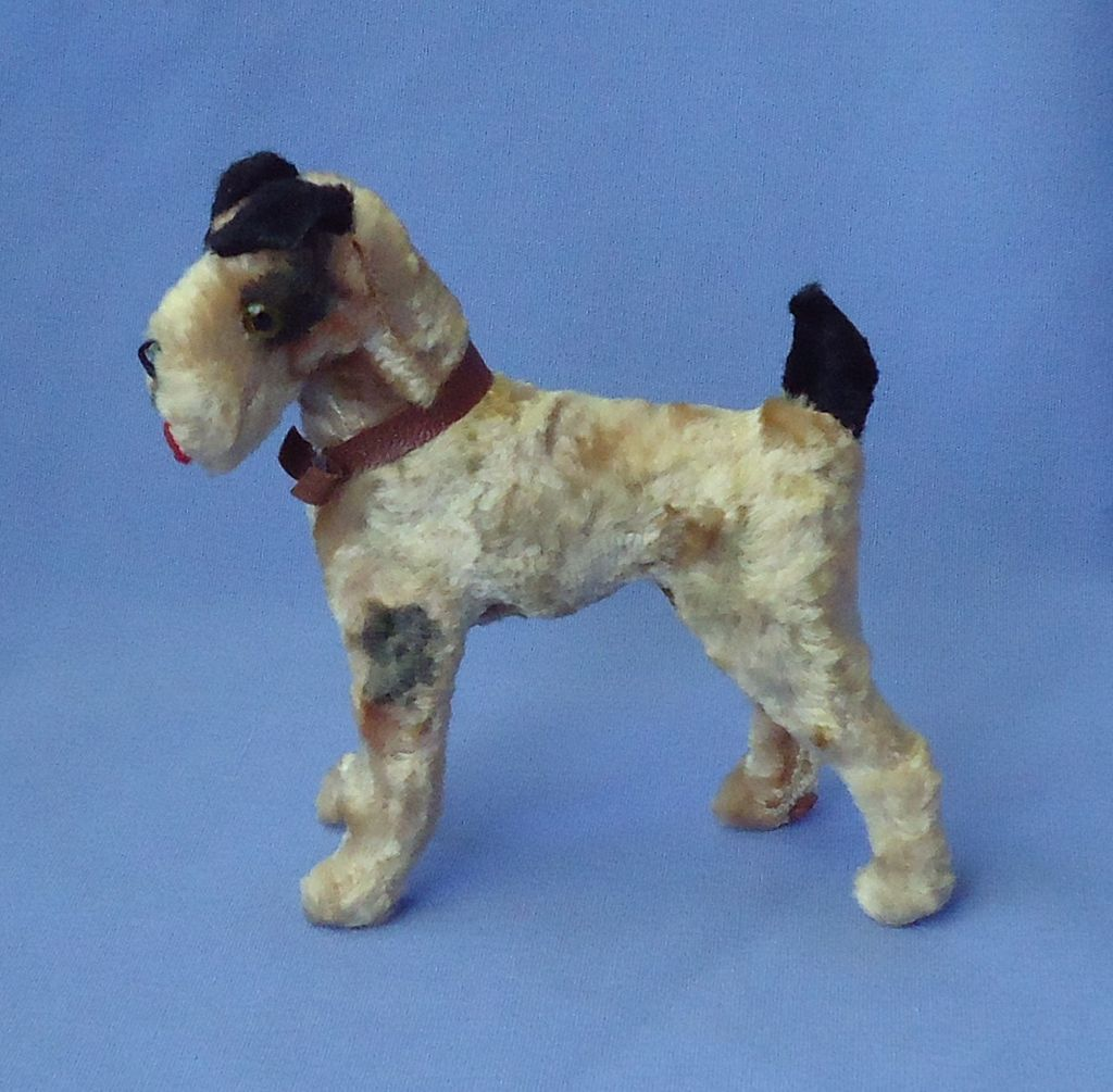 antique Airedale Fripon Fox terrier dog Germany label French fashion doll