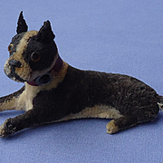 antique Boston terrier salon dog French fashion doll Germany