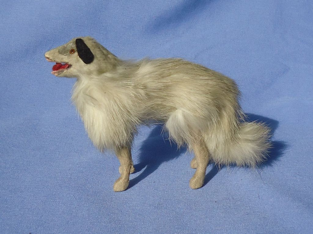 antique fur Borzoi 4 Jumeau doll Germany