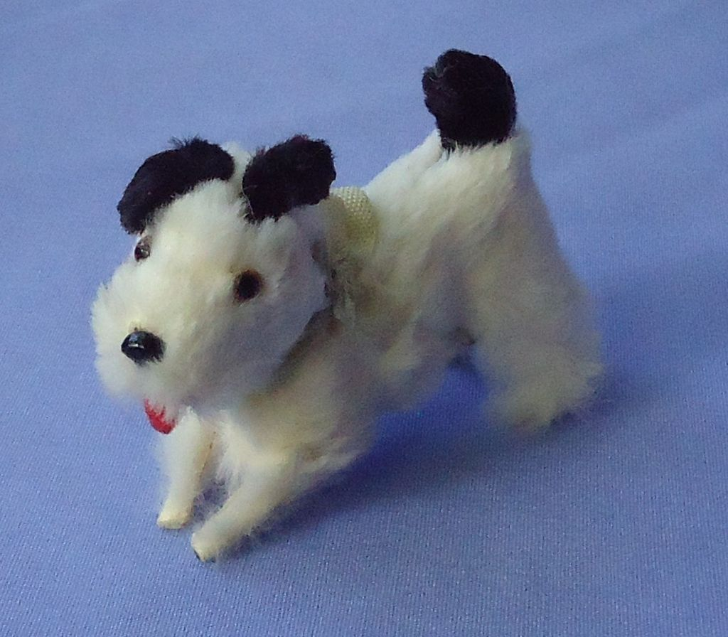 antique fur Fripon terrier dog French fashion doll Germany