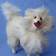 antique fur Spitz Samoyed Pomeranian dog French fashion doll Germany 5""