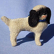 antique  Cocker / Cavalier King Charles toy spaniel salon dog companion  for French fashion doll Germany label