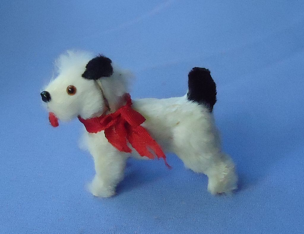 antigue fur terrier for French fashion doll Germany