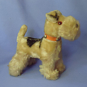 vintage Airedale terrier French fashion doll 6""