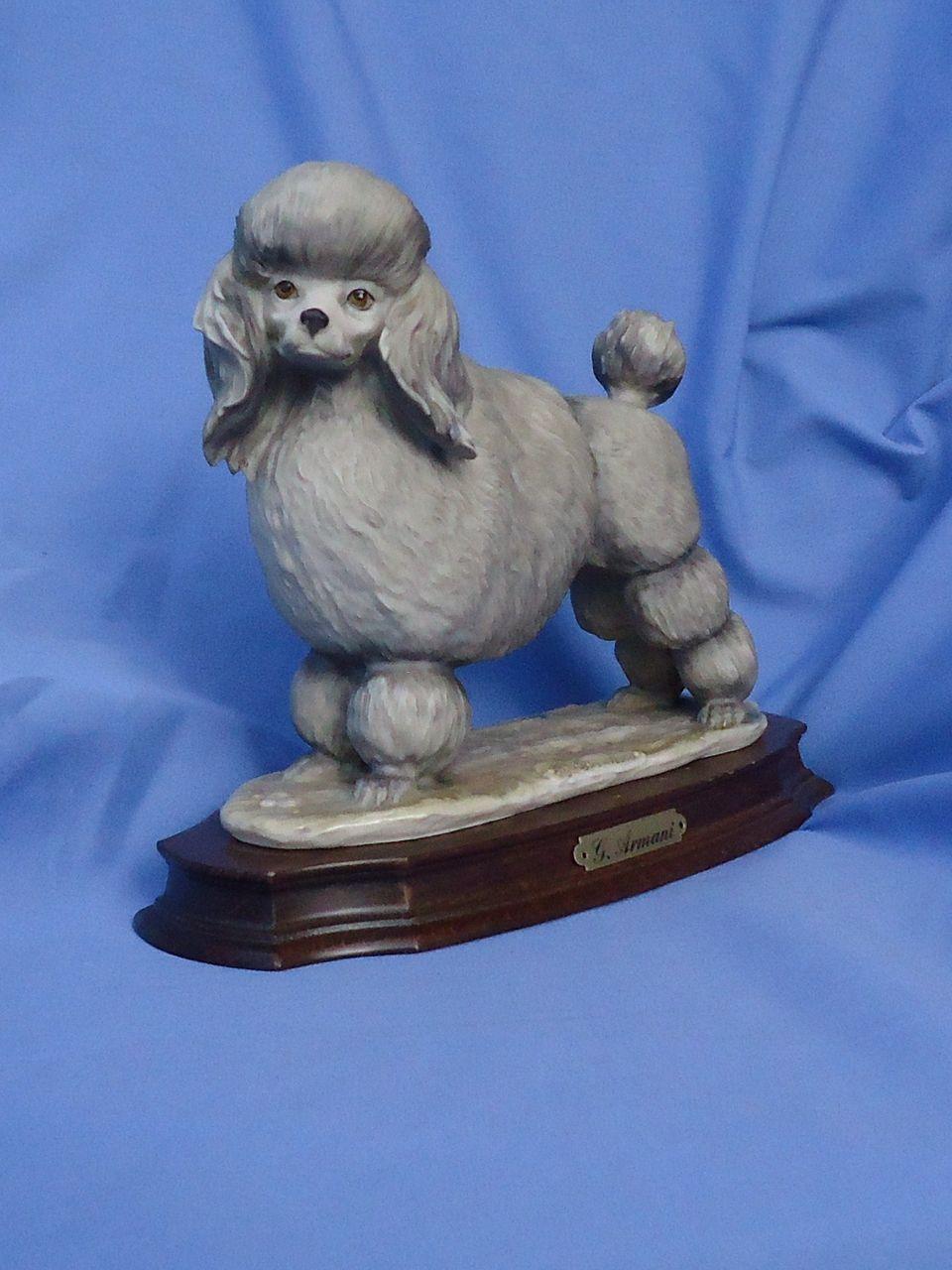 "1983  Armani grey teacup toy Poodle 9"""