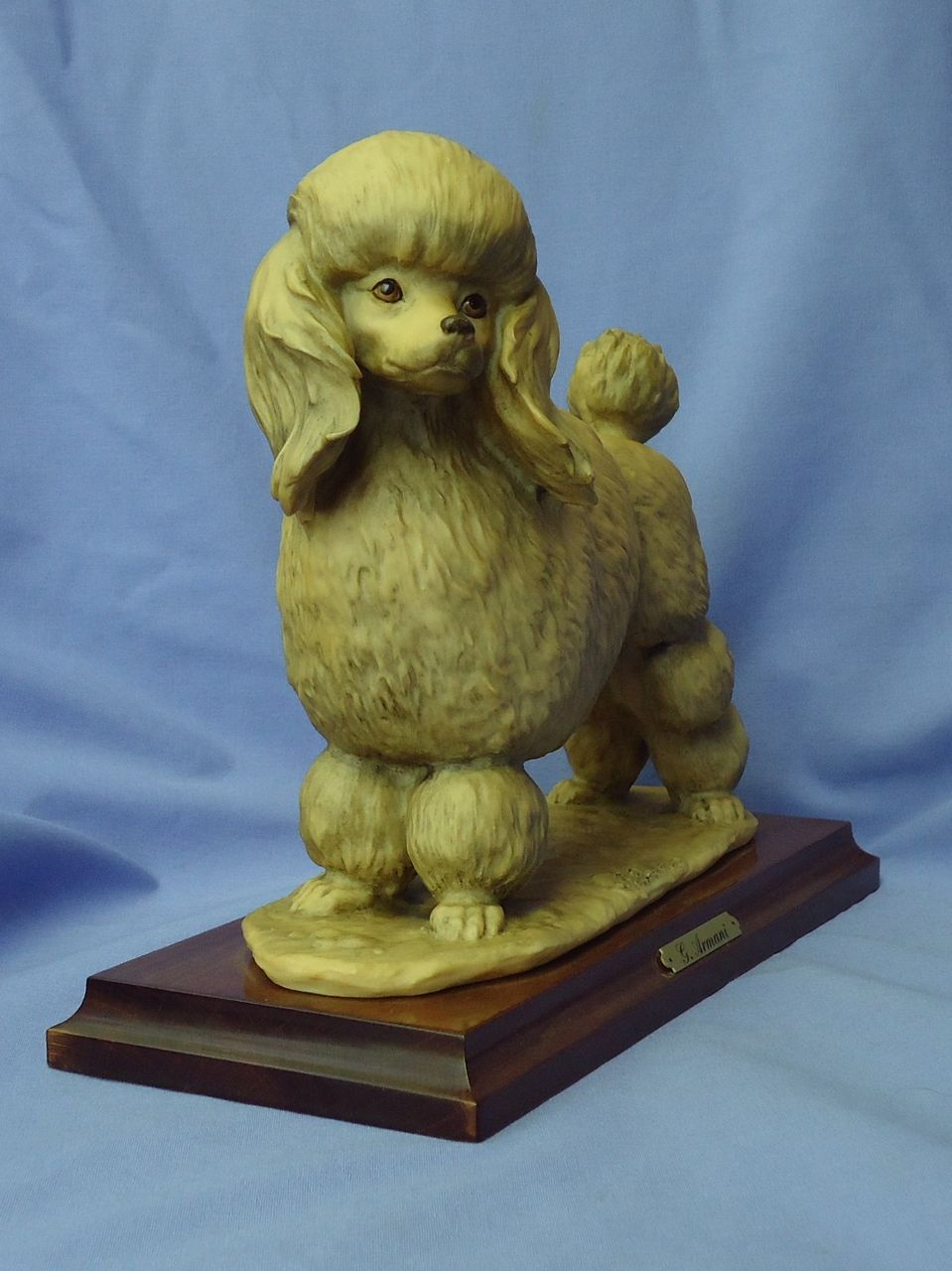 "1983 Armani tea cup toy Poodle 9"" Italy"