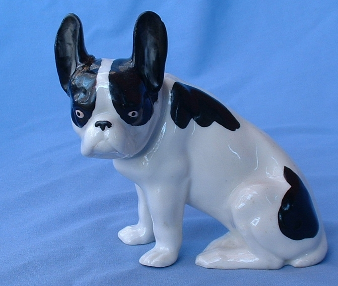 "1930 French Bulldog Germany 6"" repaired ear"
