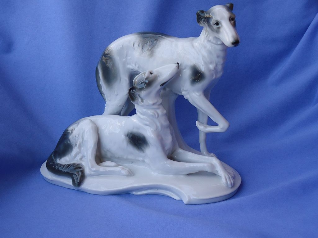 rare pair  1930 Borzoi AVP Germany 10""