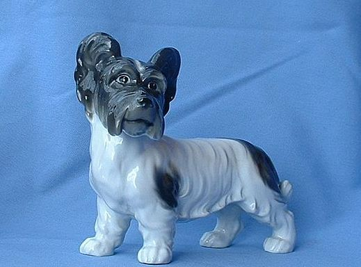 "1920s Skye Silky terrier Briard dog 7"" Germany"