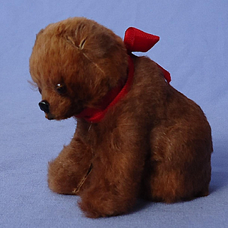 antique Germany fur Brown bear toy for French fashion doll