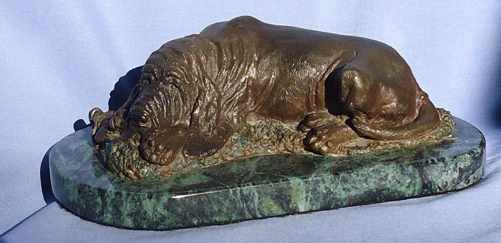 """bronze Basset hound Bloodhound Baldwin 10"""""""