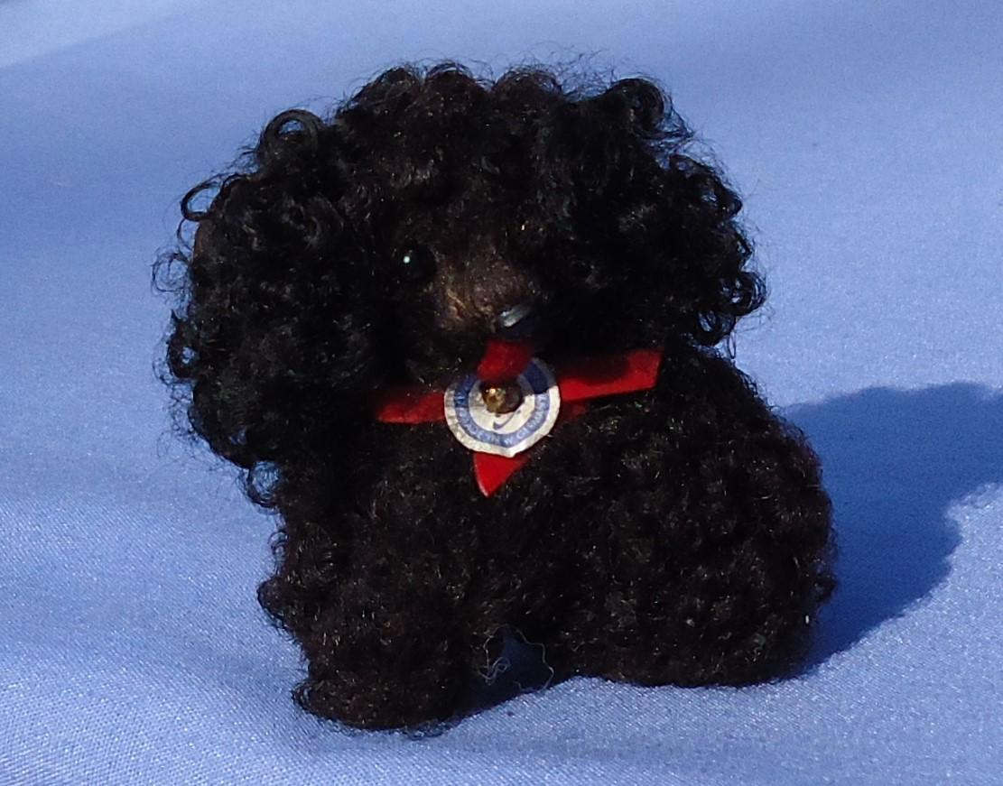 black curly fur Havanese salon dog French fashion doll Germany
