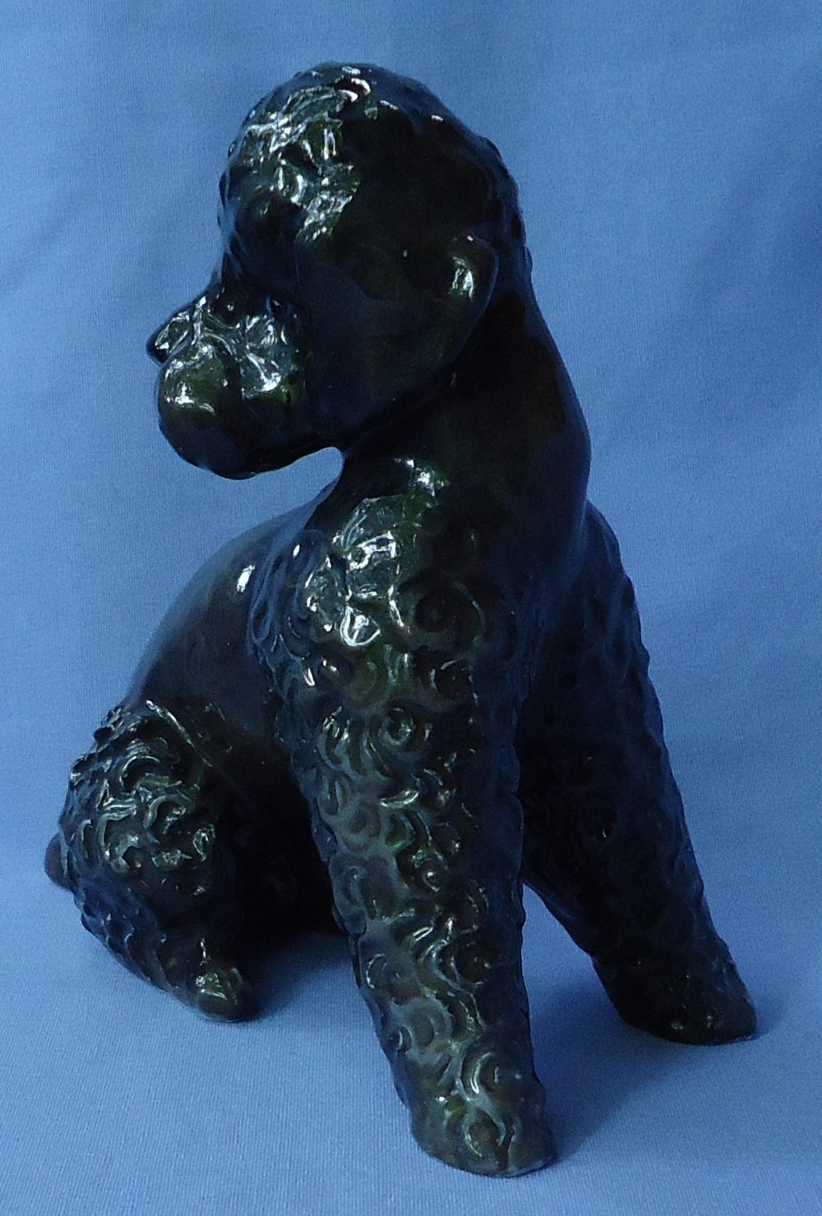 """1950s Rosenthal  grey/black poodle 6"""""""