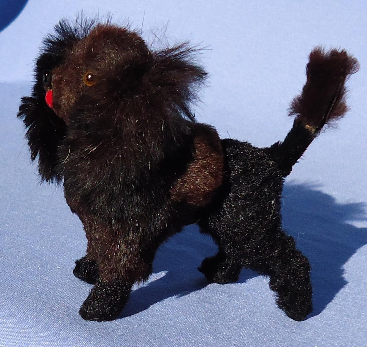 antique black Poodle salon dog French fashion doll Germany 3""