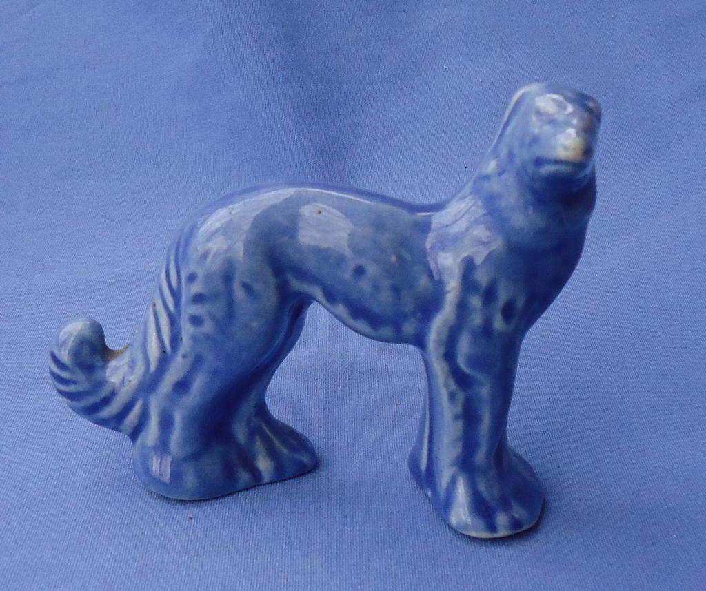 "rare blue Stangl  dog wolfhound Borzoi 4"""