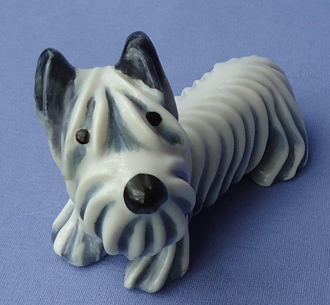 Skye Silky Yorkshire terrier Briard Bosse deco design dog MO Germany 4""