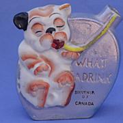 1920/30s Bonzo liquor flask Japan