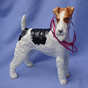"8"" Wire haired Fox terrier Boehm 1950 dog  LE 1/150"