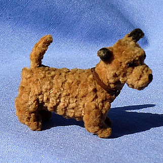 antique Border Cairn terrier salon dog French fashion doll Germany 2""