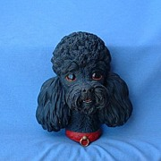 1960s Bossons England black Poodle 5""