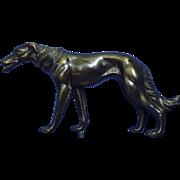 """vintage bronze Borzoi 12"""""""