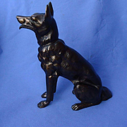 German Shepherd Alsatian Malinois dog art deco bronze 9""