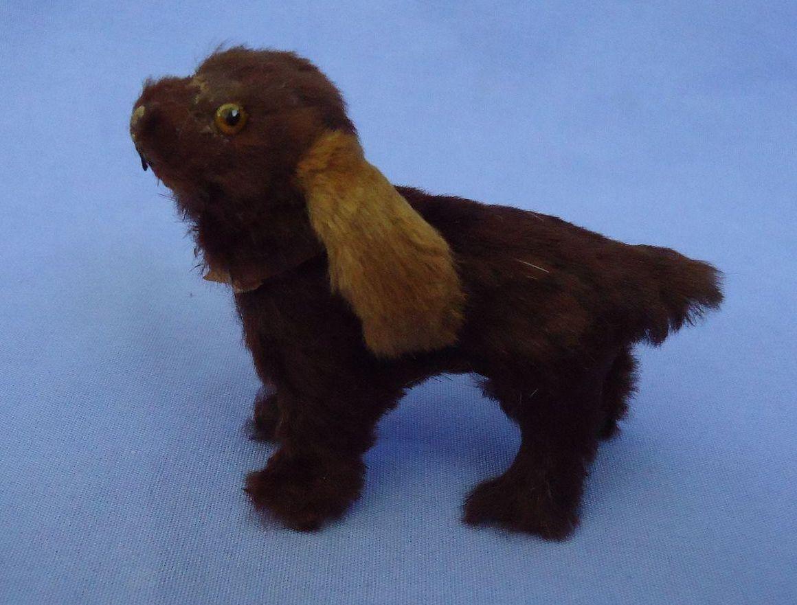"""fur Cocker Spaniel salon dog French fashion doll companion Germany label 3"""""""